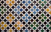 Colorful Tiles, Arabic Style, In The Alhambra, Granada
