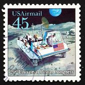 Postage stamp USA 1989 Moon Rover, Futuristic Mail Delivery