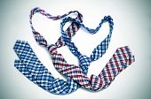 two ties forming hearts symbolizing gay love or gay marriage