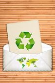 Ecology Concept With Recycling Symbol