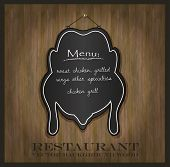 vector blackboard chicken restaurant menu card
