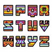 mexican alphabet.