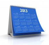 Calendário 2013 em azul