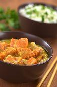 Batata-doce e coco Curry