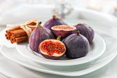 Fresh figs with cinnamon for Christmas table