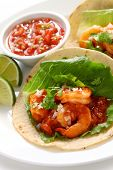 shrimp tacos, tacos de camarones, mexican cuisine