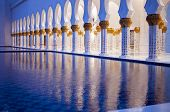 Exteriors of grand mosque of Abu Dhabi