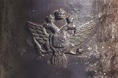 Detail Of Old Cannon- Emblem Of Russia