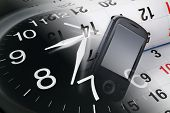 Reloj, calendario y smart Phone