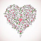 Heart-shaped ornament