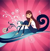 Abstract Vector Background_Girl 003