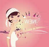 Abstract Vector Background_Girl 002