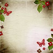 Vintage background for invitation or congratulation
