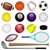 Vector deportes conjunto