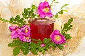 Herbal Infusion Of Rosa Canina Plant