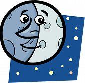 Luna divertidos dibujos animados ilustración
