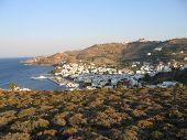 View Of The Greek City, Sea And Mountains