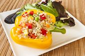 Quinoa Stuffed Yellow Pepper