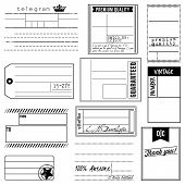 Vector Set of Vintage Inspired Labels and Tags