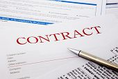 stock photo of merge  - contract form business concept and legal system - JPG