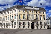 the austrian federal chancellery in vienna. seat of the chancellor.