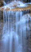 Close Up Erawan Waterfall In Kanchanaburi, Thailand