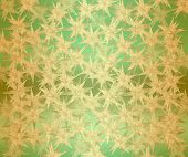 Stars on a green background