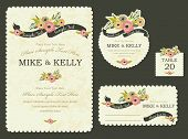 Brimming with blooms invitation card