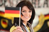 Woman supporting the German football team