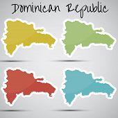 pegatinas en forma de República Dominicana