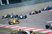 MOSCOW - JUNE 23: Formula Renault 2.0 race at World Series by Renault in Moscow Raceway on June 23, 2013 in Moscow