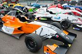 MOSCOW - JUNE 23: Formula Renault 2.0 cars show at World Series by Renault in Moscow Raceway on June 23, 2013 in Moscow