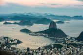 Sugarloaf Mountain, Rio de Janeiro from Corcovado, Brazil