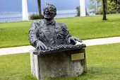 Statue To Ray Charles In Montreux
