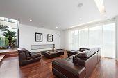Diseño de interiores: moderna sala grande