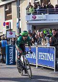 The Cyclist Pichot Alexandre- Paris Nice 2013 Prologue In Houilles