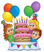 Kids party theme image 4 - eps10 vector illustration.
