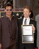 LOS ANGELES - JUN 24:  Johnny Depp, Jerry Bruckheimer at  the Jerry Bruckheimer Star on the Hollywoo