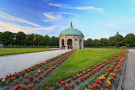 stock photo of munich residence  - Palais of Residence garden Munich City Germany - JPG