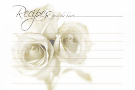 pic of recipe card  - Bridal wishes recipe card for bridal showers - JPG