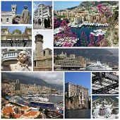 Monte Carlo,Monaco,Collage