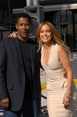Denzel Washington and Jennifer Lopez  at a Boys And Girls Clubs Of America Announcement With Denzel