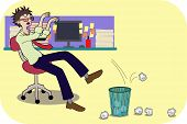 Bored Businessman Illustration
