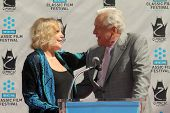Kim Novak, Robert Osborne at the Kim Novak Hand and Foot Print Ceremony to coincide with the TCM Fil