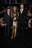 Josh Hutcherson, Jennifer Lawrence, Liam Hemsworth at