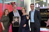 Nancy Cartwright, Matt Groening, Yeardley Smith, Hank Azaria at the Matt Groening Star on the Hollyw