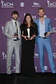 Charles Kelley, Hillary Scott and Dave Haywood at the 47th Academy Of Country Music Awards Press Roo