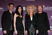 Jimi Westbrook, Karen Fairchild, Kimberly Roads Schlapman and Phillip Sweet at the 47th Academy Of Country Music Awards Press Room, MGM Grand, Las Vegas, NV 04-01-12