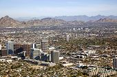 stock photo of piestewa  - Midtown Skyline of Phoenix Arizona looking to the northeast - JPG