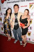 Yumi Yoshiyuki, Yutaka Ikejima and Reiko Yamaguchi at the Boobs and Blood International Film Festiva